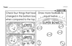 Free First Grade Number Sense PDF Worksheets Worksheet #231