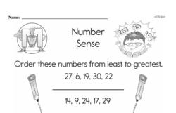 Free First Grade Number Sense PDF Worksheets Worksheet #1