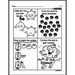Free First Grade Number Sense PDF Worksheets Worksheet #155