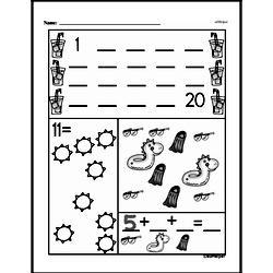 Free First Grade Number Sense PDF Worksheets Worksheet #7