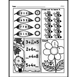 Free First Grade Number Sense PDF Worksheets Worksheet #21