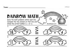 Free First Grade Number Sense PDF Worksheets Worksheet #224