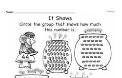 Free First Grade Number Sense PDF Worksheets Worksheet #230