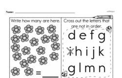 Free First Grade Number Sense PDF Worksheets Worksheet #172