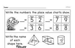 Free First Grade Number Sense PDF Worksheets Worksheet #255