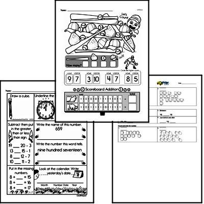Number Sense Mixed Math PDF Workbook for First Graders