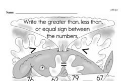 First Grade Number Sense Worksheets Worksheet #5
