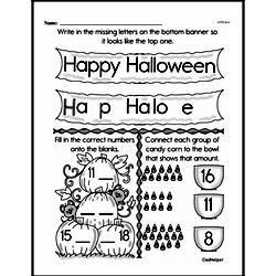 Free First Grade Number Sense PDF Worksheets Worksheet #175