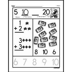 Free First Grade Number Sense PDF Worksheets Worksheet #109