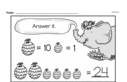 Free First Grade Number Sense PDF Worksheets Worksheet #201