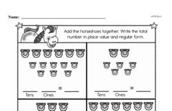 Free First Grade Number Sense PDF Worksheets Worksheet #209