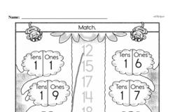 Free First Grade Number Sense PDF Worksheets Worksheet #177