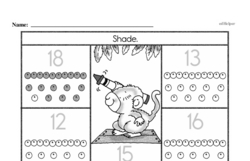 Free First Grade Number Sense PDF Worksheets Worksheet #185