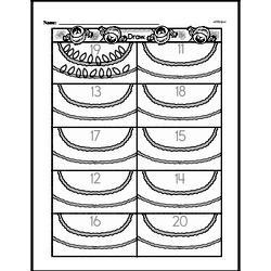 Free First Grade Number Sense PDF Worksheets Worksheet #165