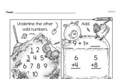 Free First Grade Number Sense PDF Worksheets Worksheet #237