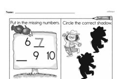 Free First Grade Number Sense PDF Worksheets Worksheet #115