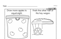 Free First Grade Number Sense PDF Worksheets Worksheet #122