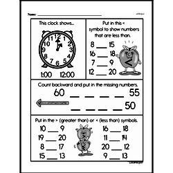 Free First Grade Number Sense PDF Worksheets Worksheet #119