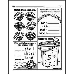 Free First Grade Number Sense PDF Worksheets Worksheet #125