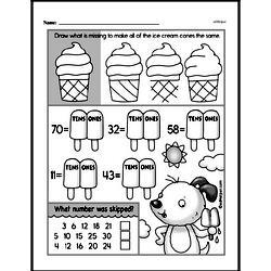 Free First Grade Number Sense PDF Worksheets Worksheet #229