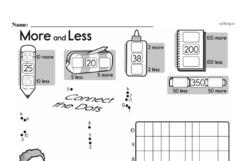 Free First Grade Number Sense PDF Worksheets Worksheet #118