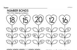 Free First Grade Number Sense PDF Worksheets Worksheet #187
