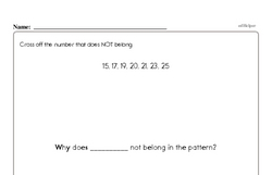 Free First Grade Number Sense PDF Worksheets Worksheet #180