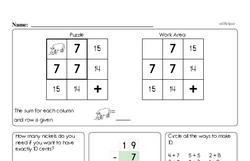 Free First Grade Number Sense PDF Worksheets Worksheet #181