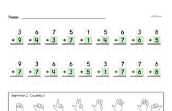Free First Grade Number Sense PDF Worksheets Worksheet #183