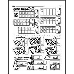 Free First Grade Number Sense PDF Worksheets Worksheet #42