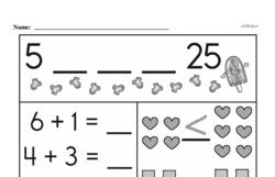 Free 1.NBT.A.1 Common Core PDF Math Worksheets Worksheet #24