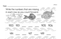 First Grade Number Pattern and Sequence Worksheets Worksheet #6
