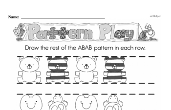 Free Number Pattern and Sequence Worksheets PDFs for First Graders Worksheet #1