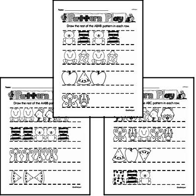 Pattern Worksheets - Free Printable Math PDFs Worksheet #4