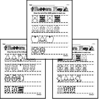 Free Number Pattern and Sequence Worksheets PDFs for First Graders Worksheet #4