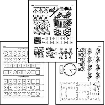Patterns Mixed Math PDF Workbook for First Graders
