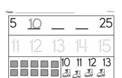 Free 1.NBT.A.1 Common Core PDF Math Worksheets Worksheet #23