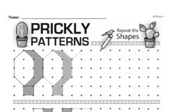 Pattern Worksheets - Free Printable Math PDFs Worksheet #17