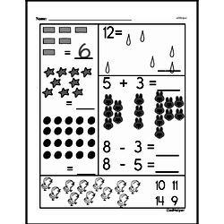 Free First Grade Subtraction PDF Worksheets Worksheet #25