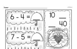 Free First Grade Subtraction PDF Worksheets Worksheet #28