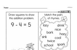 Free First Grade Subtraction PDF Worksheets Worksheet #38