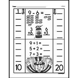 Free First Grade Subtraction PDF Worksheets Worksheet #40