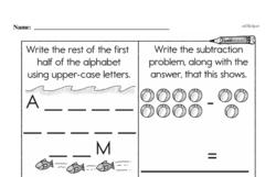 Free First Grade Subtraction PDF Worksheets Worksheet #46