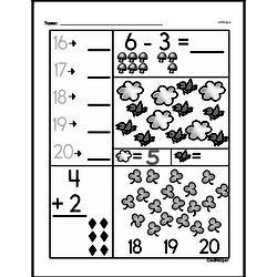 Free First Grade Subtraction PDF Worksheets Worksheet #31