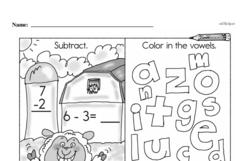 Free First Grade Subtraction PDF Worksheets Worksheet #47