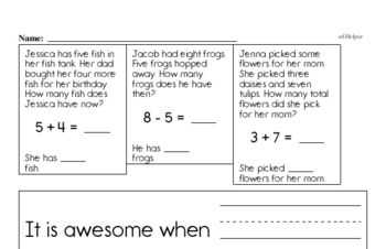 Subtraction - Subtraction within 10 Mixed Math PDF Workbook for First Graders