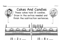 Free First Grade Subtraction PDF Worksheets Worksheet #26