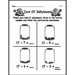 Free First Grade Subtraction PDF Worksheets Worksheet #14