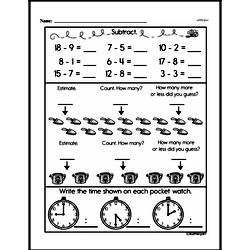 Free First Grade Subtraction PDF Worksheets Worksheet #24