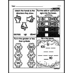 Free First Grade Subtraction PDF Worksheets Worksheet #31